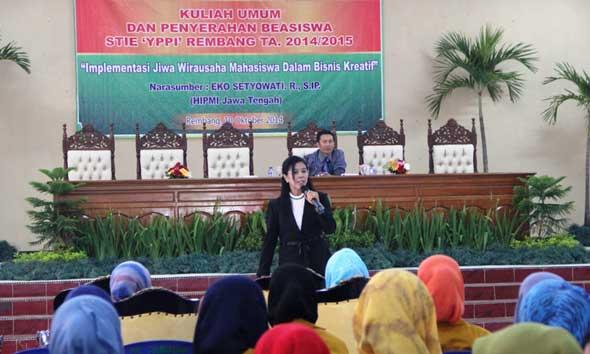 HIPMI Jateng Beber Peluang Industri Kreatif bagi Mahasiswa Rembang