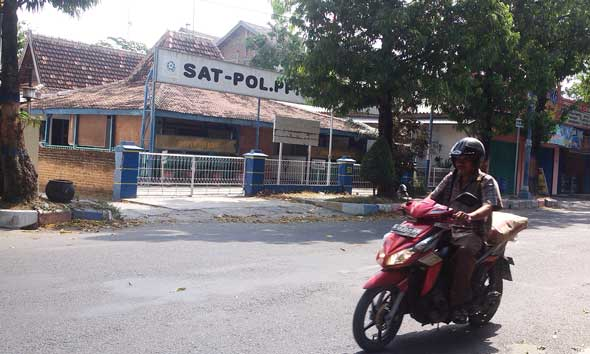 Markas Satpol PP dibilangan Jalan Soetomo Rembang. (Foto:Rif)