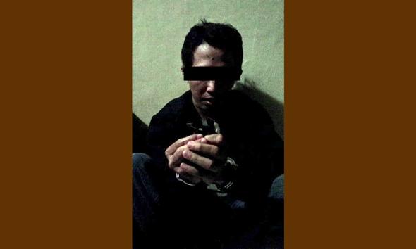 RST alias Bajul (37) seorang pengedar sabu-sabu warga RT 4 RW 2 Desa Tergambang Kecamatan Bancar Kabupaten Tuban, Jawa Timur. (Foto:Pujianto)