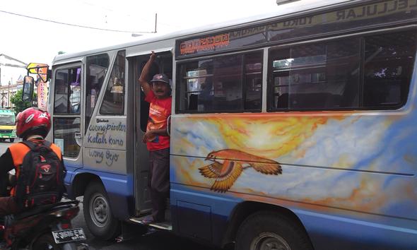 Angkutan umum di Kabupaten Rembang. (Foto:Rif)