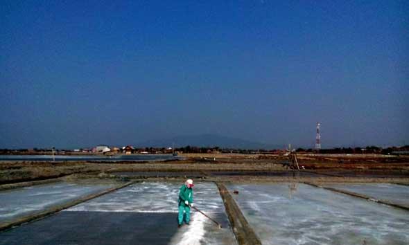 Petani Gelisah Pasar Garam Lesu di Rembang