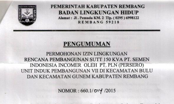 Masyarakat Diminta Tanggapi SUTT untuk PT Semen Indonesia