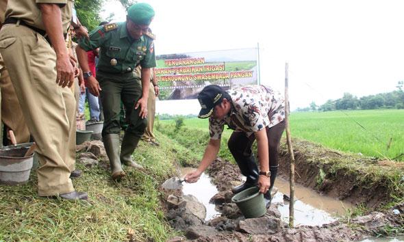 Pacu Produksi Pangan, Rembang Perbaiki Irigasi 3.000 Hektare Lahan
