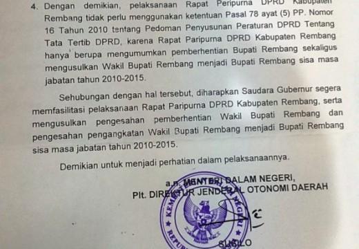 Mendagri Minta DPRD Paripurna Umumkan Usulan Pelantikan Hafidz