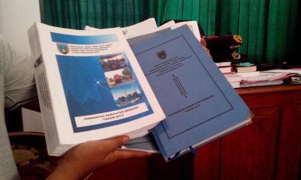 Dokumen KUA-PPAS 2013 Rembang Disita Kejari