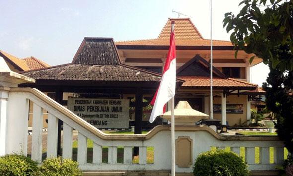 Kantor Dinas Pekerjaan Umum Rembang. (Foto orangrembang.com)