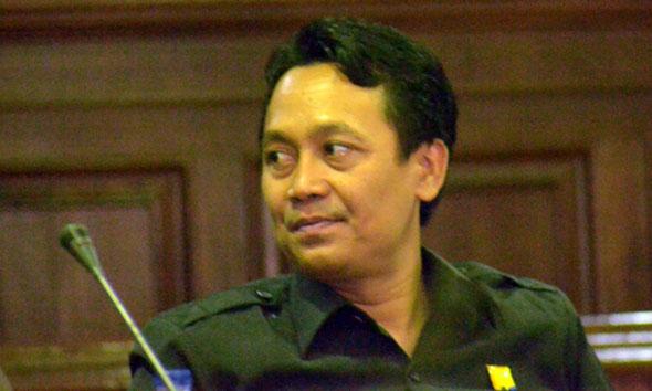 Ketua Pansus DPRD Rembang yang membahas Pelabuhan Tanjung Bonang, Puji Santoso. (Foto: Pujianto)