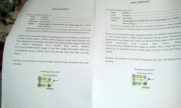 Sumadi Akui CV Shinta Dibeli dari Hartadi
