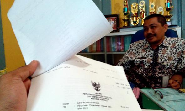 Kepala BKD Rembang Suparmin. (Foto: Pujianto)