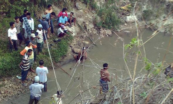 Lokasi tenggelamnya Sayidani (14) di Kedung Mbendo Desa Jinanten Kecamatan Sale. (Foto: mataairradio.com)