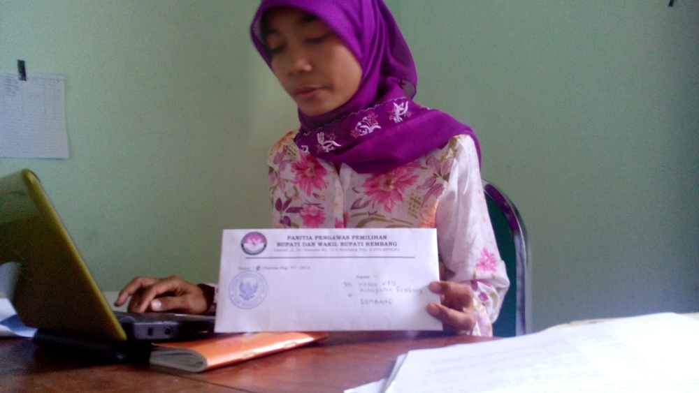 Koordinato Divisi Pengawasan Panwas Pilkada Rembang Budi Handayani. (Foto: Pujianto)