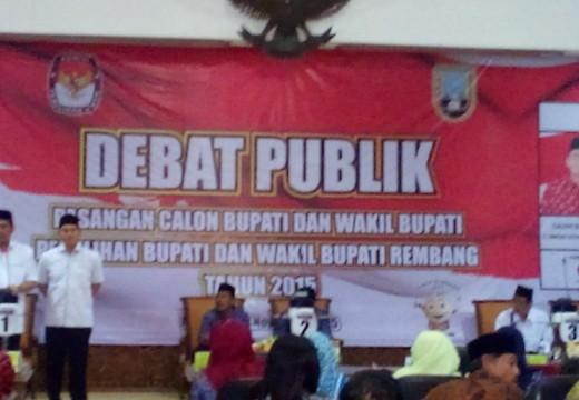 Debat, Cabup Rembang Adu Konsep Clean Governance