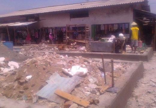 Pedagang Korban Kebakaran Pasar Pandangan Menagih Bantuan