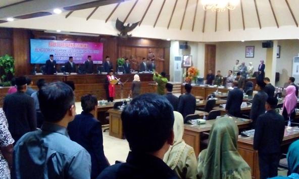 Rapat paripurna sebagaimana saat pengambilan sumpah dan janji Wakil Ketua DPRD Rembang Sumarsih, direncanakan digelar saat mengumumkan rotasi legislator di alat kelengkapan dewan. (Foto: Pujianto)