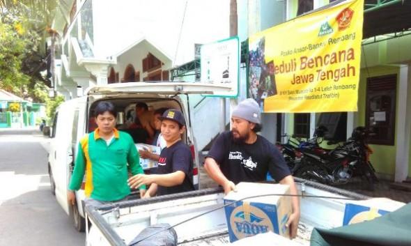 Ansor Rembang Galang lagi Bantuan guna Pemulihan Pascabencana