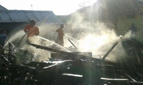 Kebakaran, Rumah dan Enam Motor Ludes di Tasikagung