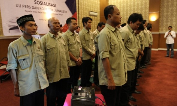 27 Pengurus PWI Rembang Dilantik, Diingatkan Uji Kompetensi