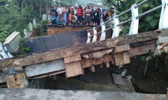 Perbaikan Jembatan Runtuh Ronggomulyo Butuh Tiga Bulan