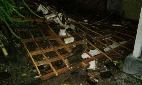 Puluhan Rumah Warga Bonang Diterjang Puting Beliung