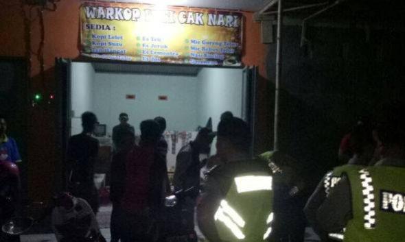 Polisi Sidak Warkop dan Karaoke Jelang Imlek