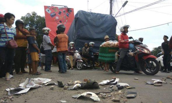 Rem Blong, Truk Tabrak Pemotor hingga Tewas