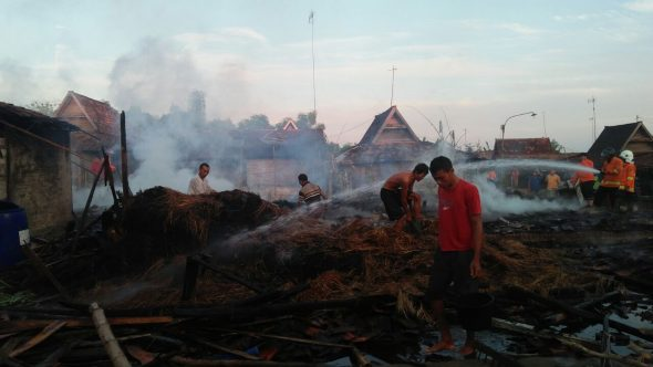 Empat Rumah Ludes akibat Kebakaran di Sukorejo