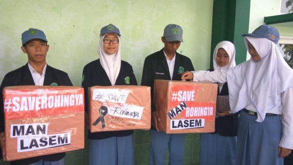 Siswa di Lasem Galang Dana untuk Rohingya