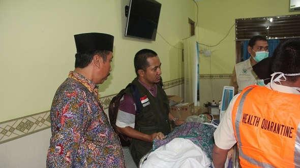 Tiba di Donohudan, Seorang Haji Dilarikan ke Rumah Sakit