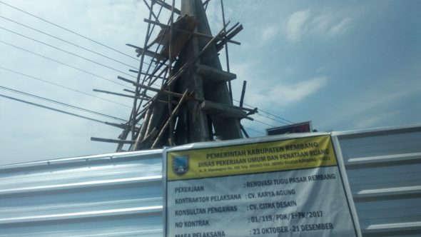 Penyelesaian Proyek Renovasi Tugu Pasar Diprediksi Molor