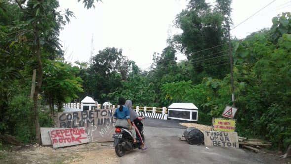 Selesai Diperbaiki, Jembatan Sulang masih Terlarang untuk Mobil
