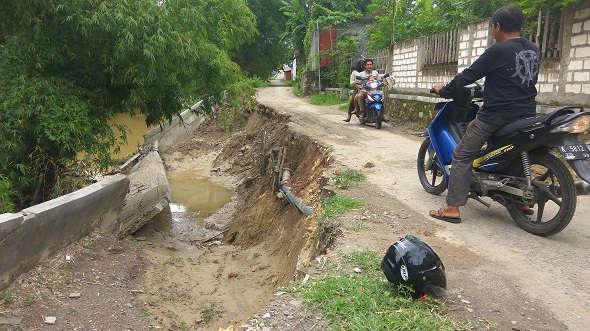 PDAM Bantah Pipa Bocor Picu Longsor Tebing Sungai Babagan