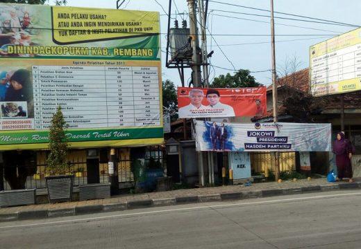 Alat Peraga Kampanye Liar di Rembang Akan Ditindak