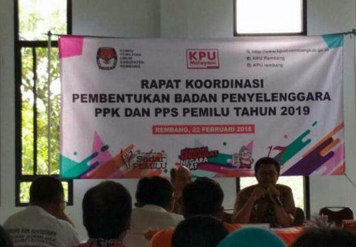 Pembentukan PPK dan PPS Pemilu 2019 Melalui Evaluasi