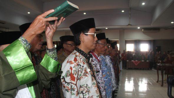 Bupati Lantik 137 Pejabat Baru di Pemkab Rembang