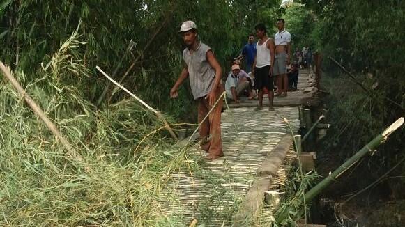 Jembatan Sekarsari-Manjang yang Ambrol Ditangani secara Darurat