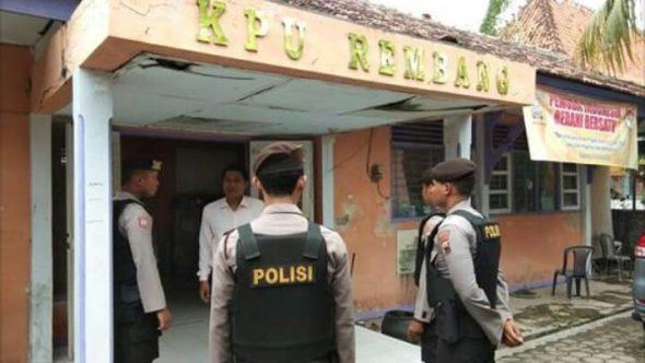 Polisi Intensifkan Pengamanan Kantor KPU dan Panwaslu
