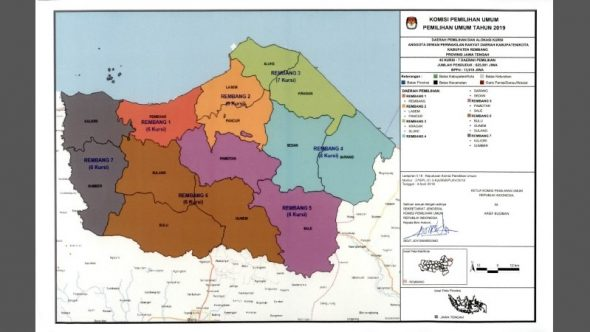 KPU Tetapkan Dapil dan Alokasi Kursi DPRD Rembang