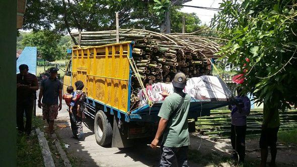 Akhirnya KPU Distribusikan Alat Peraga Kampanye Pilgub di Rembang