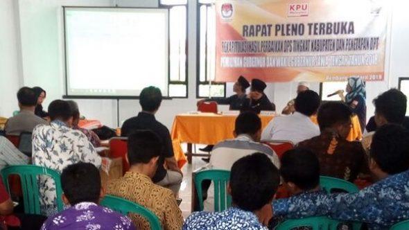 KPU Rembang Tetapkan DPT Pilgub Jateng 475.730