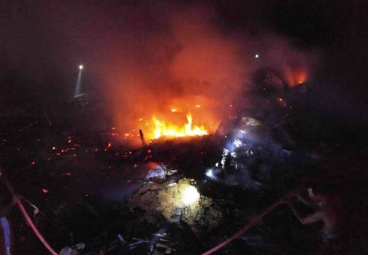 Tiga Rumah Warga Dadapmulyo Ludes Dilalap Api