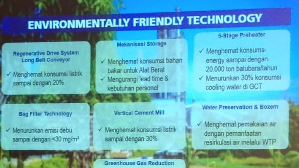 Teknologi Produksi Semen di Rembang Ramah Lingkungan