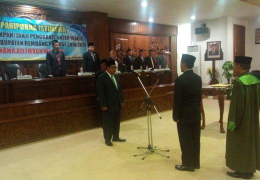 Ali Imron Dilantik Menjadi Anggota DPRD Rembang