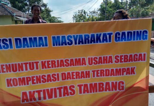 Tak Dapat Perhatian, Warga Gading Setop Mobilisasi Hasil Tambang