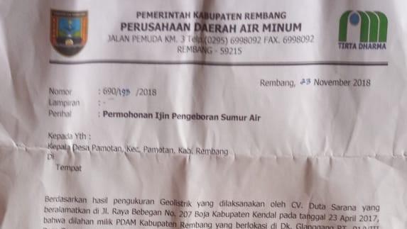 Kades Pamotan Tidak Tahu Soal Penelitian oleh PDAM Rembang
