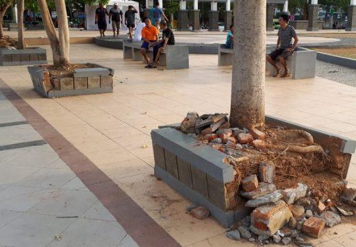 """""""Planter Box"""" di Alun-alun Rusak, Perhatian Pemerintah Dipertanyakan"""