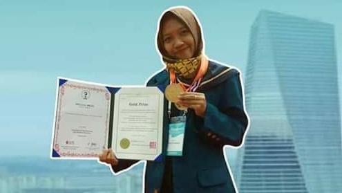 Inovasi Genting Tahan Gempa, Kader IPPNU Pamotan Raih Medali Emas di Korea