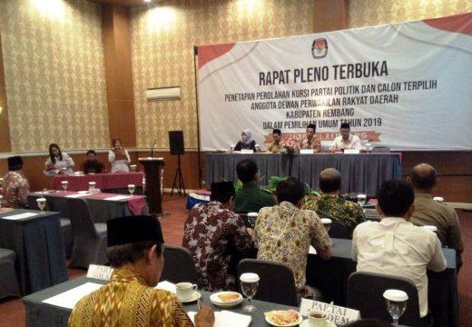 KPU Rembang Gagal Tetapkan Anggota DPRD Terpilih