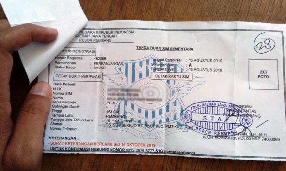 Satlantas Rembang Kehabisan Blanko SIM