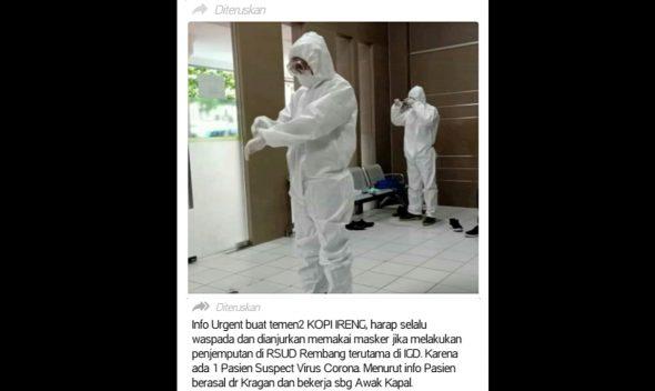 """Viral Informasi """"VirusCorona di RSUD Rembang"""", Ini Penjelasannya"""