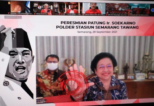 Dihadiri Megawati, Ganjar Resmikan Patung Bung Karno di Tawang